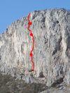 Kuka Muka se nalazi na impozantnoj južnoj stini Markezine Grede. Čuja i Matan su smjeru dali ime po famoznom skyhook-u sa kojeg je Matan izletia skupa sa bušilicom dok je radia smjer. Zanimljivo je da mu kuka nije ispala, kako to inače biva, nego mu je pukla gurtnica na njoj! :-))))