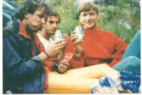 Tri Ivice nakon penjanja u Dolomitima 1990.