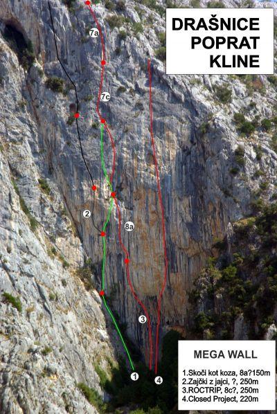 Ultimativna 250 metarska stina super atraktivnog izgleda, ali i vrhunski razvedena, pružat će najteže big wall smjerove u Hrvatskoj!
