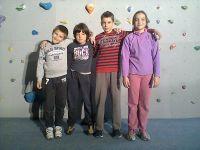 Niko, Damjan, Leon i Vana na jednom od brojnih treninga u splitskom Domu omladine...